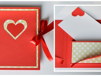 How to Make - Greeting Card Box Valentine's Day - Step by Step DIY | Kartka Walentynkowa
