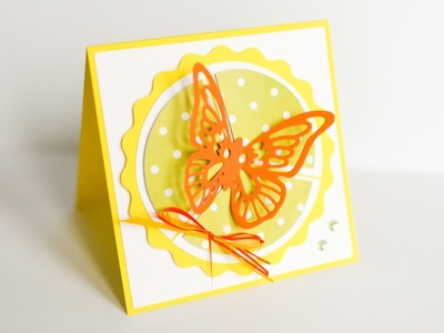 How to Make - Greeting Card Butterfly - Step by Step DIY | Kartka Okolicznościowa Motyl