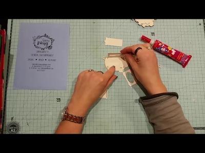 """Jak złożyć """"swinke skarbonke 3D"""" z Fabryki Weny, scrapbooking"""