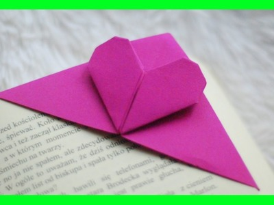 Zakładka do książki - Serce Origami. Origami Heart Bookmark