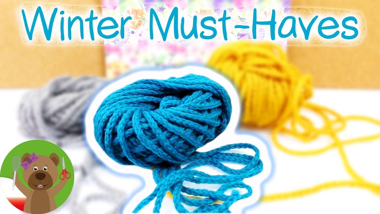 DIY Inspiration Challenge Winter Must Haves | ciepły szal zrobiony na palcach zamiast na szydełku