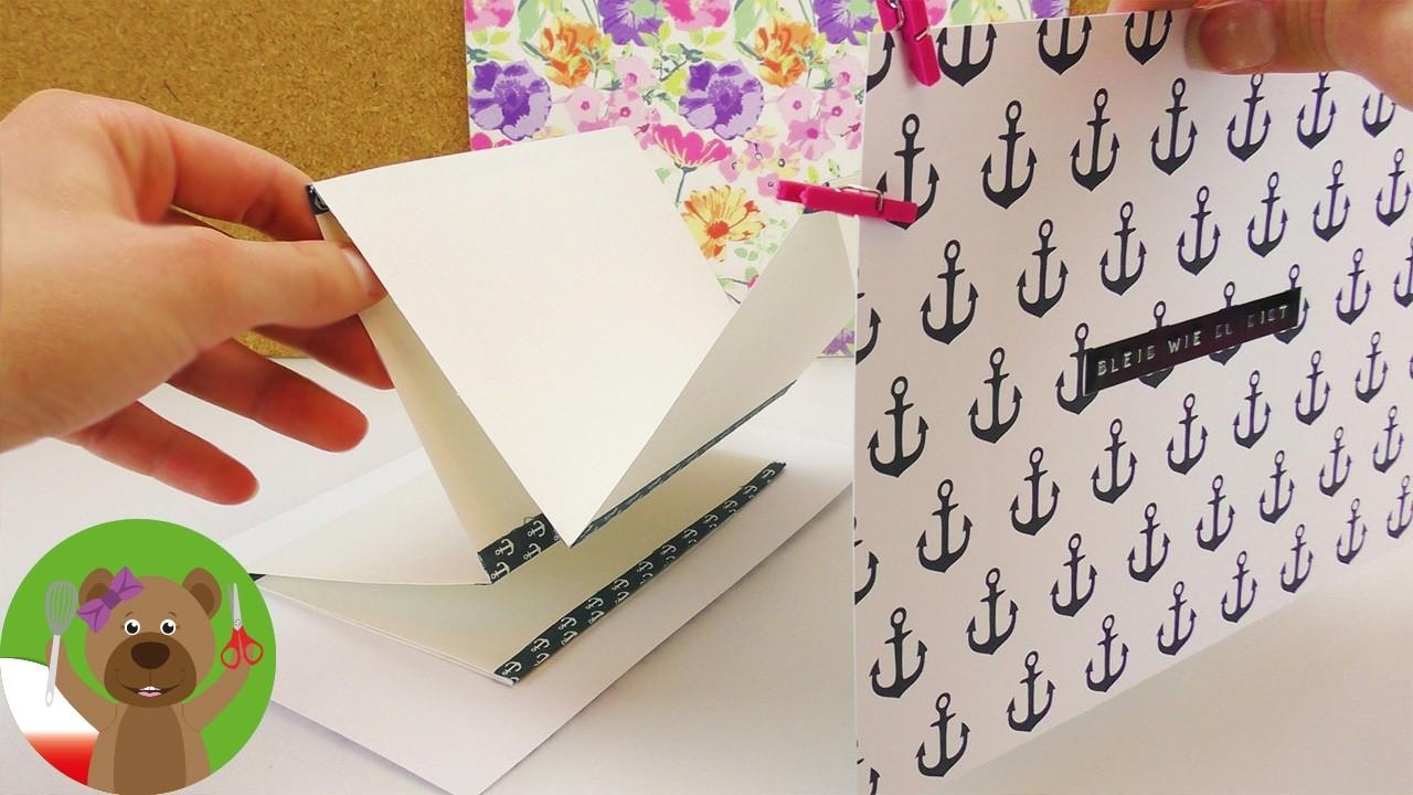 DIY pomysł na prezent   niekończący się list   list złożony w harmonijkę