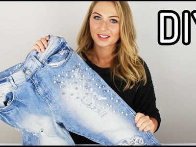 DIY: Sposób na jeansy | Jak przerobić stare spodnie - Domodi.TV