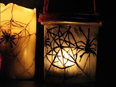 Jak zdobić szklany lampion na Halloween - Pomysły plastyczne dla każdego