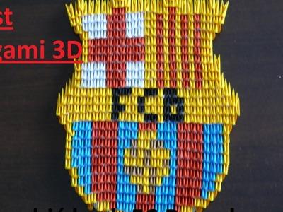 Origami 3D.Module FC Barcelona - Crest  | Jak Zrobić Origami 3D.Modułowe FC Barcelona - Herb