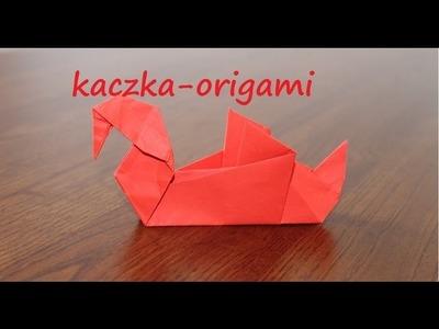 Kaczka origami jak zrobić (duck with paper)