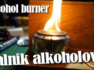 Palnik kuchenka alkoholowa DIY. Alcohol burner