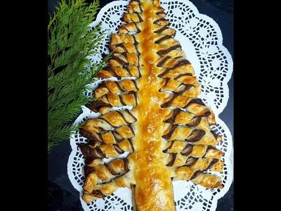 Choinka z ciasta francuskiego