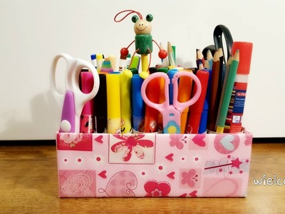 DIY - PROSTY ORGANIZER NA KREDKI I MAZAKI. EASY PENCIL AND PENS ORGANIZER