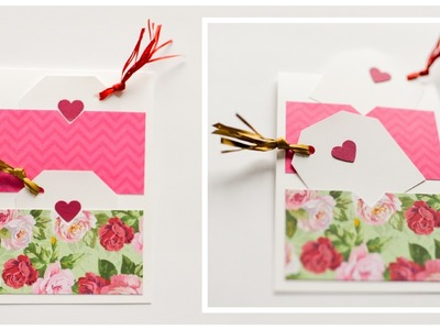 How to Make - Greeting Card Gift Tags Valentine's Day - Step by Step DIY | Kartka Walentynkowa