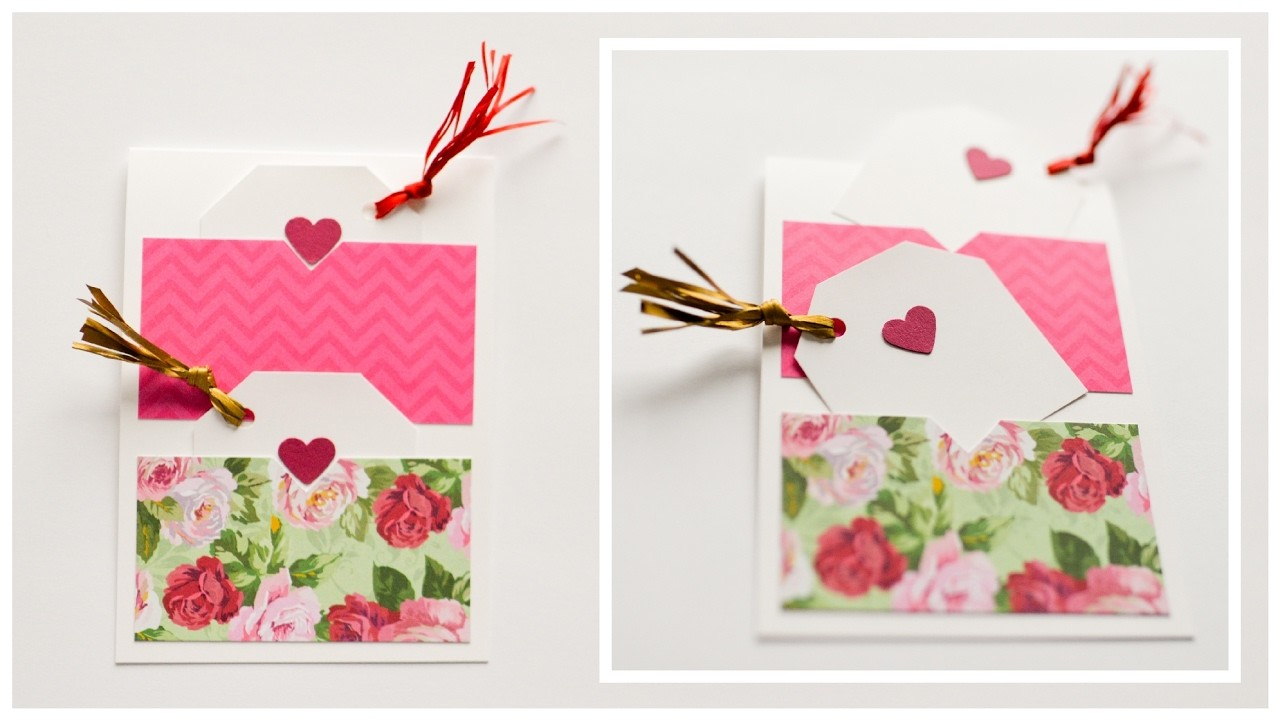 How to Make - Greeting Card Gift Tags Valentine's Day - Step by Step DIY | Kartka Walentynkowa