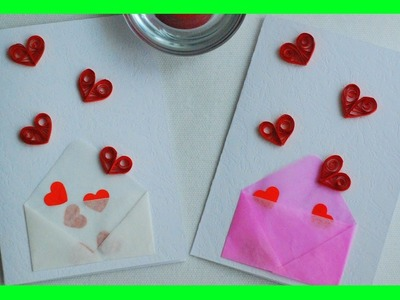 Jak zrobić Kartkę Walentynkową metodą quillingu. How to make a Valentine Card with Quilling