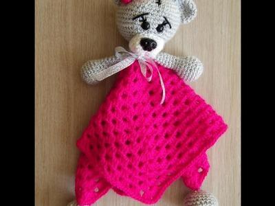 No 131# Kocyk z misiem dla dziecka na szydełku - Crochet lovely baby blanket with bear- PART 1-2