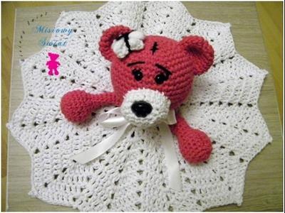 No 133# Kocyk z misiem dla dziecka na szydełku - Crochet lovely baby blanket with bear- PART 1-2