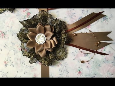 Tutorial for how to Make Ribbon Flowers (Tutorial  jak uszyc kwiaty ze wstazki satynowej)