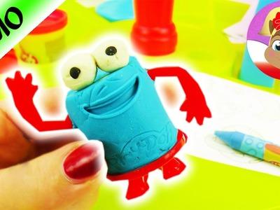Śmieszna figurka z ciastoliny Play Doh DIY test zestawu