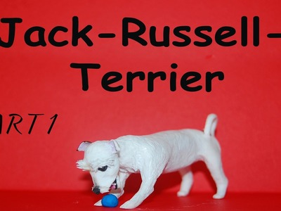 TUTORIAL Pies Jack-Russell-Terrier realistic Polymer clay hand made modelina FIMO