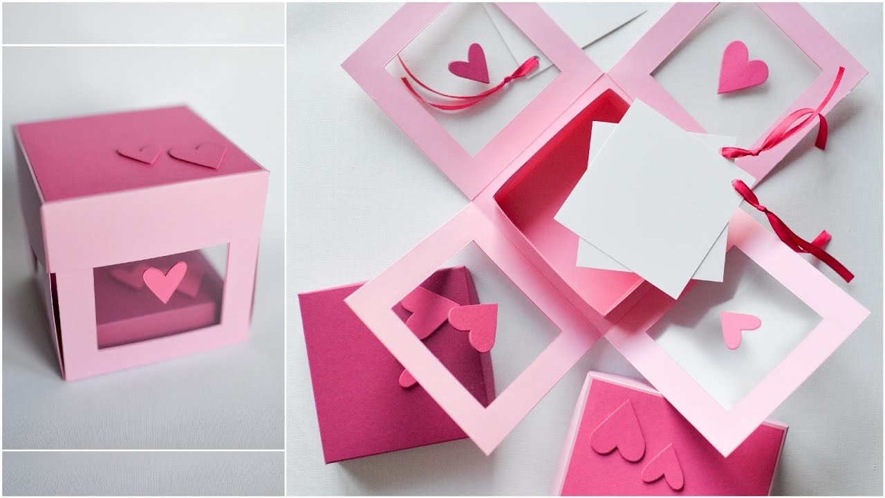 How to Make - Transparent Exploding Box Hearts - Step by Step DIY | Eksplodujące Pudełko Serca