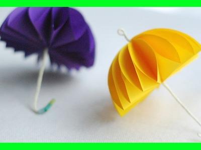 Parasol z papierowych kółek. DIY Umbrella from paper circles