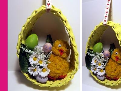Stroik jajko z papierowej wikliny (Easter egg with a paper wicker, DIY)