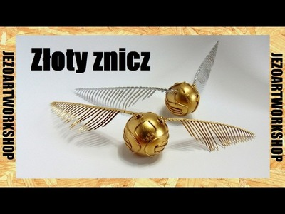 How to make: Golden snitch. Złoty znicz z HP