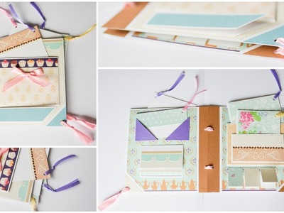 How to Make - Mini Scrapbook Diary Album - Step by Step DIY | Mini Pamiętnik Album
