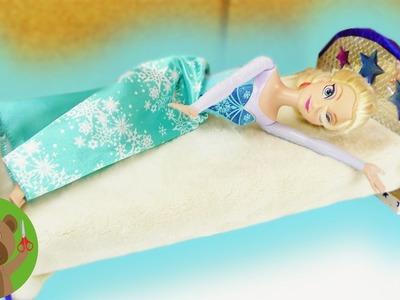 Elsa, królowa lodu, dostaje nowe łóżko | DIY łóżko dla lalki | meble dla lalek