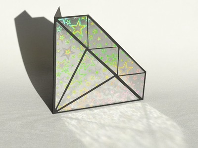 How to Make - Holographic Diamond Greeting Card - Step by Step DIY   Kartka Diament