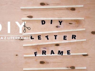 Ramka z literkami | WESTWING DIY