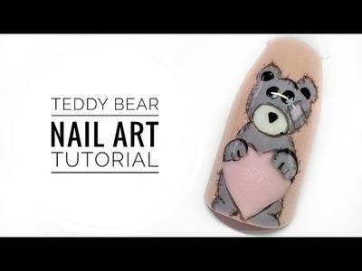 Cute Teddy Bear Nail Art Tutorial || My Wonderland