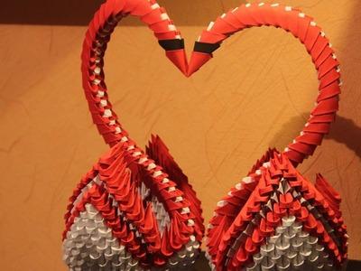 #32 Łabędzie Serce - Origami modułowe