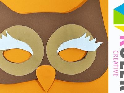 Maska Sowa - Jak zrobić maskę na bal - Mask Owl - DIY - Zrób to sam