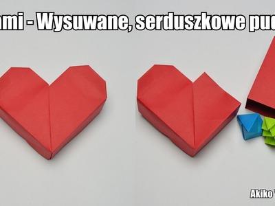 Origami - Wysuwane, serduszkowe pudełko