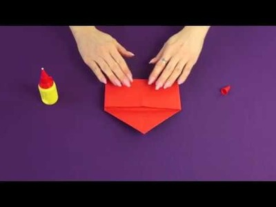 Walentynkowe Origami - Koperta z sercem