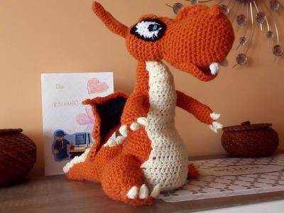 Mega Charizard Amigurumi Crochet DIY. Mega Charizard Pokemon. Ślązaczka Halinka