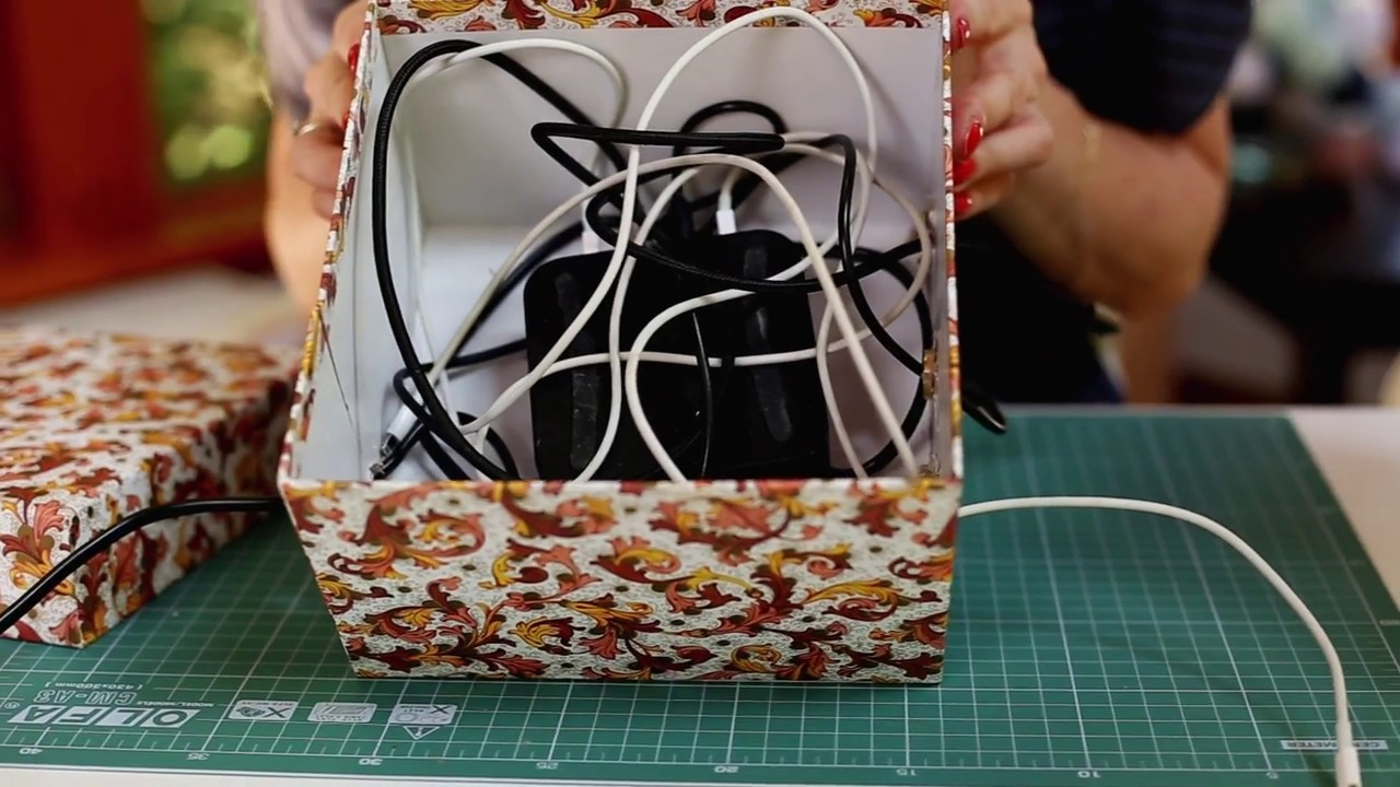 DIY: pudełko na ładowarki | Ula Pedantula #75