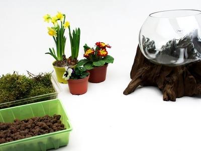DIY Terrarium Flower by Roots Decor. Przykładowa aranżacja