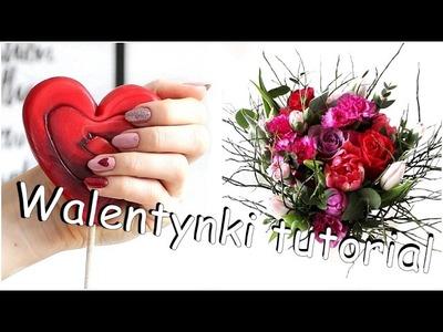 Walentynkowe paznokcie tutorial #semilac #negativespace #zdobienia