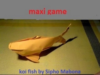 Origami koi fish by Sipho Mabona time lapse
