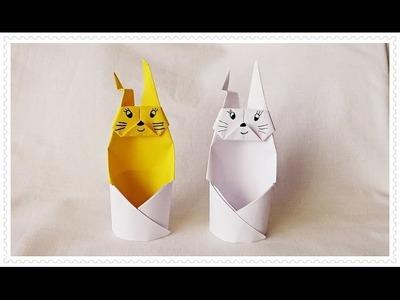 Origami ????  królik , zajączek z papieru ????  jak wykonać  ???? krok po kroku  ☛ 44