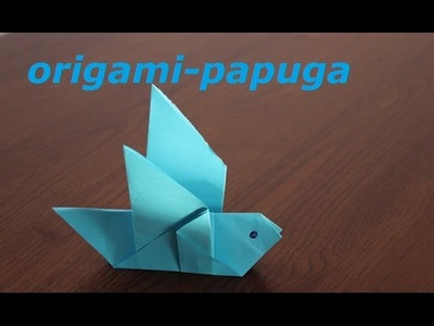 Papuga origami jak zrobić (parrot origami,  origami bird) Spielzeug aus Papier