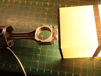 DIY. Jak zrobić LAMPKA NOCNA TŁOK Z KORBOWODEM