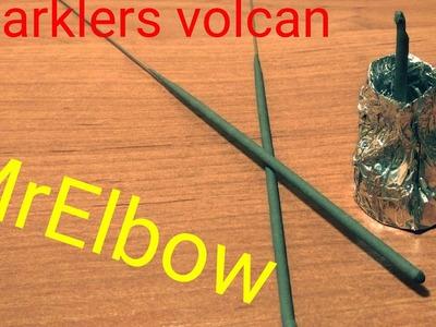 DIY Sparklers volcan. Wulkan iskrowy _)MrElbow(_ Tutorial. Poradnik