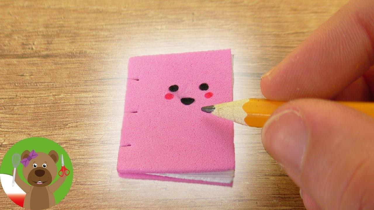 Mini zeszyt Kawaii   uroczy DIY zeszycik do notatek