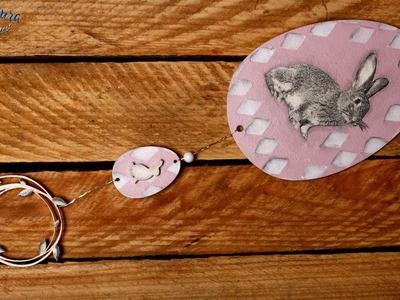 Ozdoba Wielkanocna - Decoupage - tutorial DIY