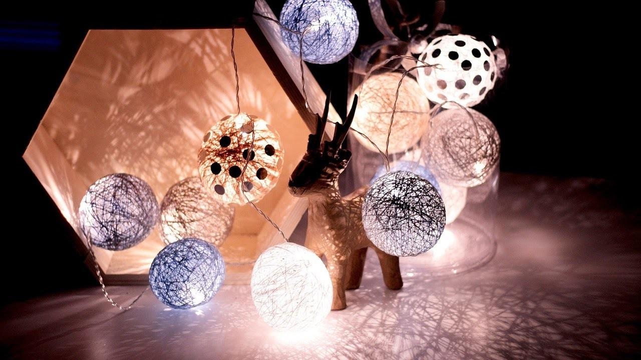 DIY: cotton ball lights - srebrzyste dodatki