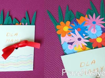 Jak zrobić laurkę na Dzień Matki z wysuwanymi kwiatami?