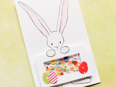How to Make - Shaker Card Easter Bunny - Step by Step DIY | Kartka Wielkanocny Zając