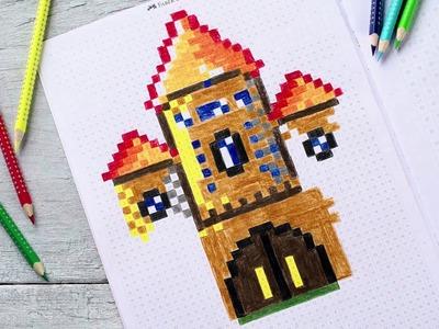 Pixel it: pokoloruj kwadraciki kredkami Faber-Castell