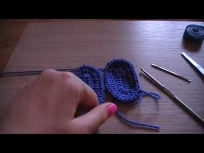 No 147# Podeszwa na szydełku pod buciki 0-3 miesięcy - Sole crochet for baby 0-3 months